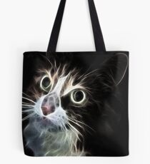 <º))))>< CAT LOOKS VERSION ONE CARD/PICTURE<º))))><  Tote Bag
