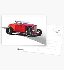 1932 Ford 'Little Red' Roadster Postcards