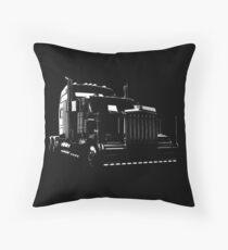 Super Semi Truck Throw Pillow
