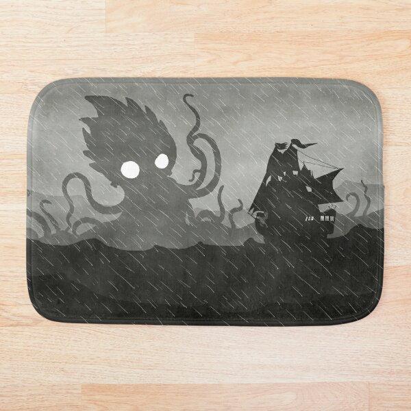 Rainy Ship & Kraken Bath Mat