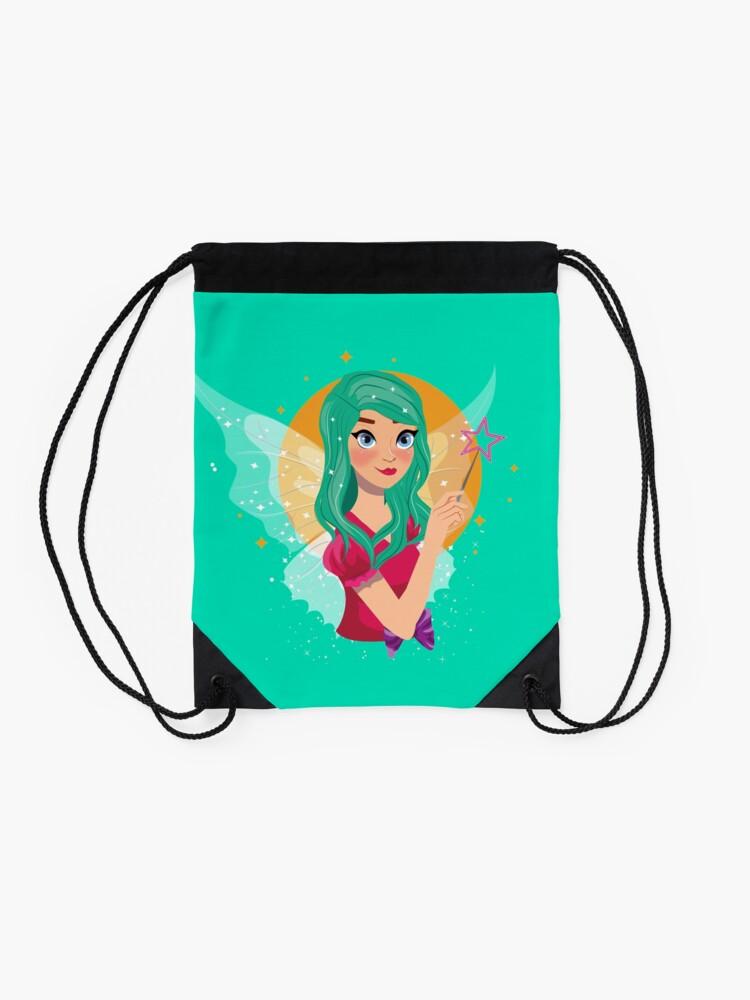 Alternate view of Ruby The Ribbon Fairy™ Drawstring Bag
