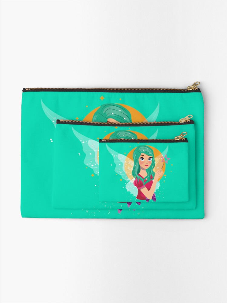 Alternate view of Ruby The Ribbon Fairy™ Zipper Pouch