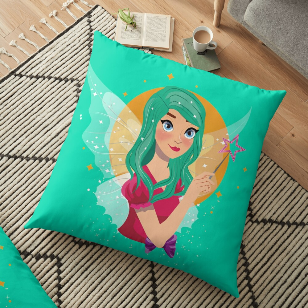 Ruby The Ribbon Fairy™ Floor Pillow