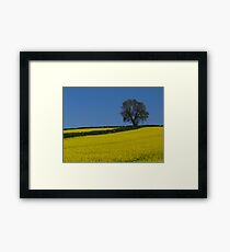 Oak Tree Landscape Framed Print