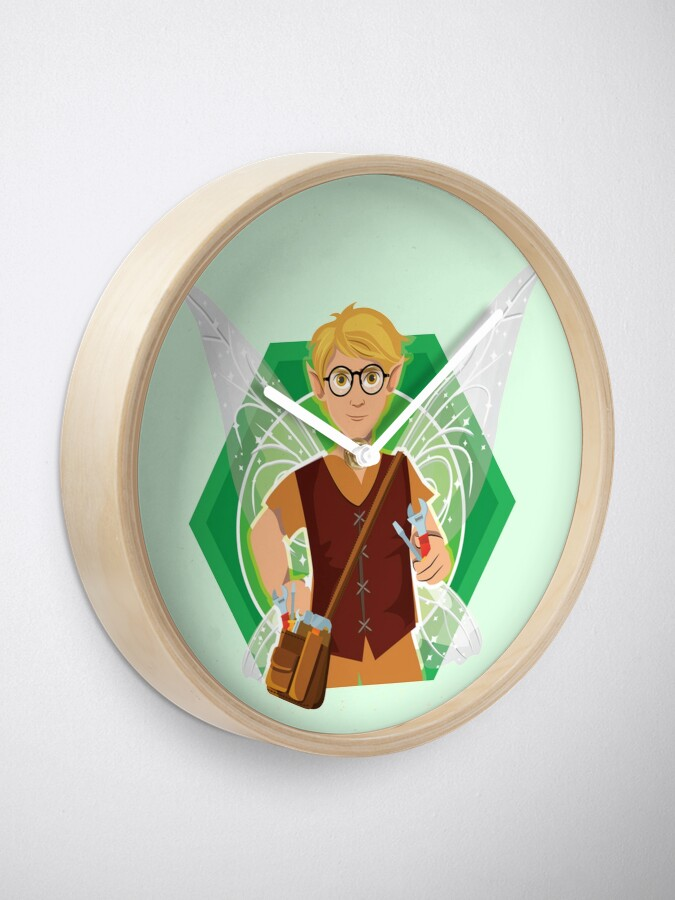 Alternate view of Tommy Tinker-The Tinker Fairy™ Clock