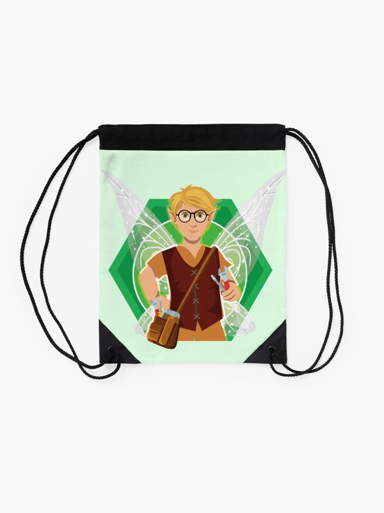 Alternate view of Tommy Tinker-The Tinker Fairy™ Drawstring Bag
