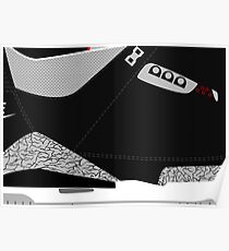 Made in China III Black/Cement Size US 9.5 - Pop Art, Sneaker Art, Minimal Poster
