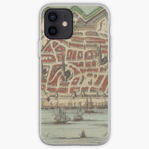 Vintage Map of Riga Latvia (1735) iPhone Soft Case