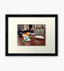 Hamtaro on my desk Framed Print