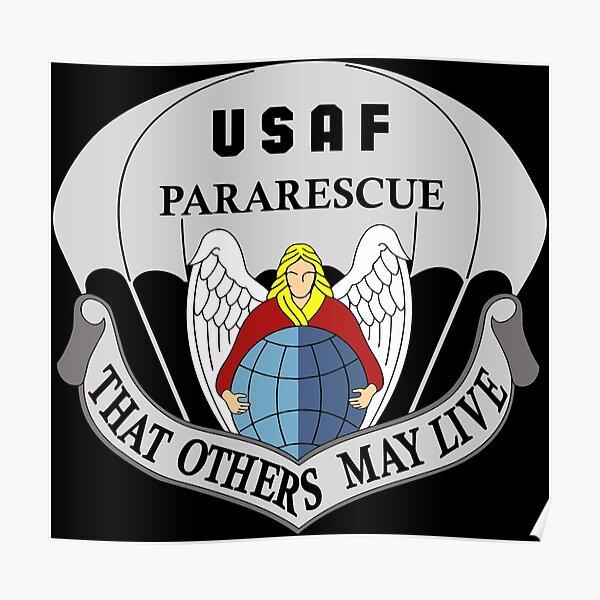 USAF Pararescue Logo Poster