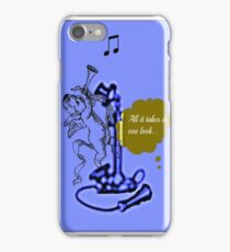 all it takes is one look... iPhone Case/Skin