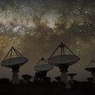 Milky Way Above ASKAP Radiotelescope by Alex Cherney