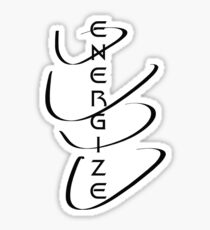 Energize! /on light colours/ Sticker