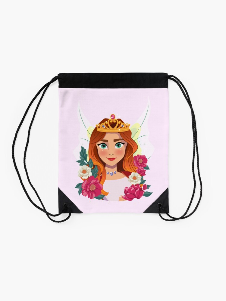 Alternate view of Queen Olivia The Fairy Queen™ Drawstring Bag