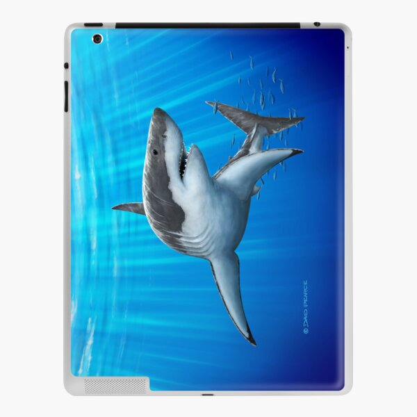 Blue Predator iPad Skin