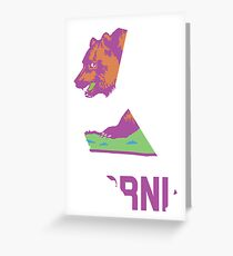 California State Outline [ Purp Green ] | SteezeFSC Greeting Card
