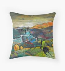 Spain - On The Steps of The Quijote Throw Pillow