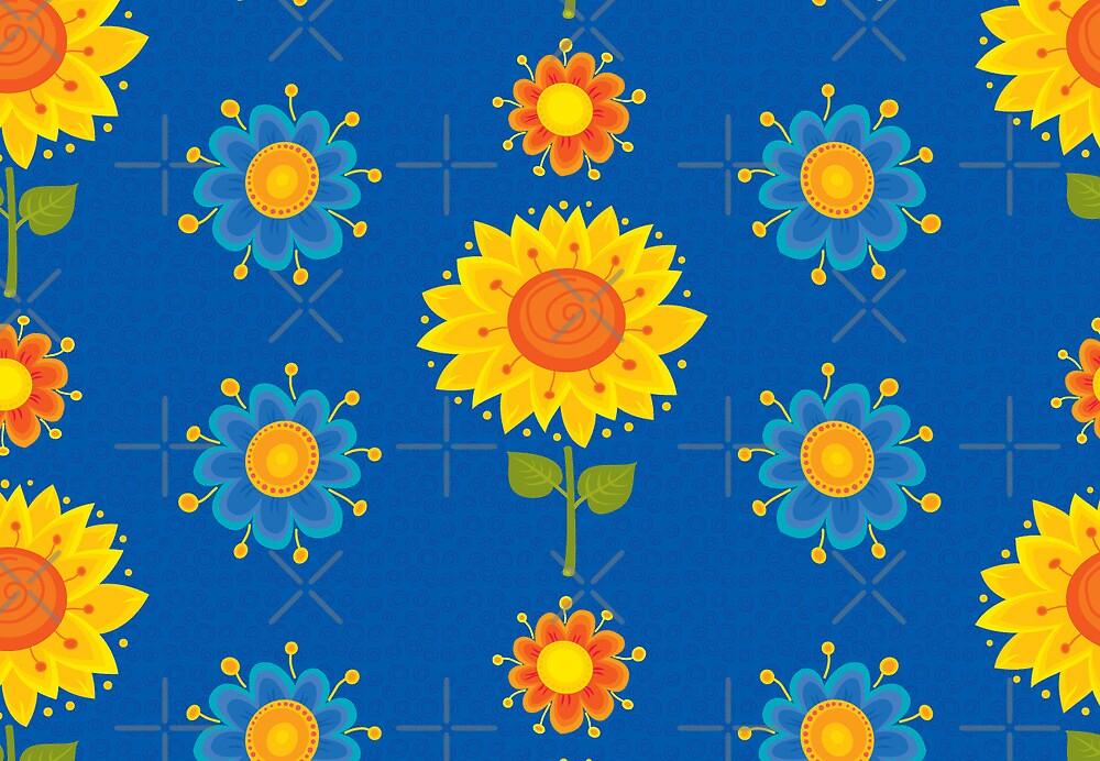 Sunflowers Pattern by rusanovska