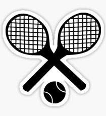 Tennisschläger und Tennisball Sticker