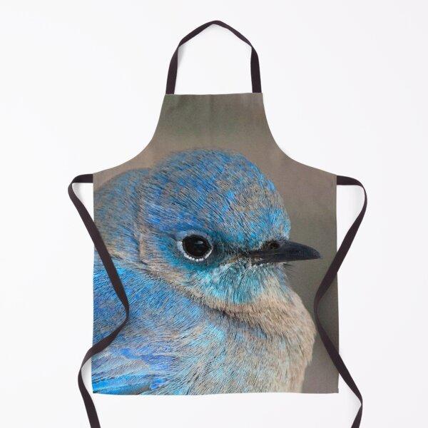 Watercolor Bird, Mountain Bluebird 01, Estes Park, Colorado, Colorado Beauty Apron