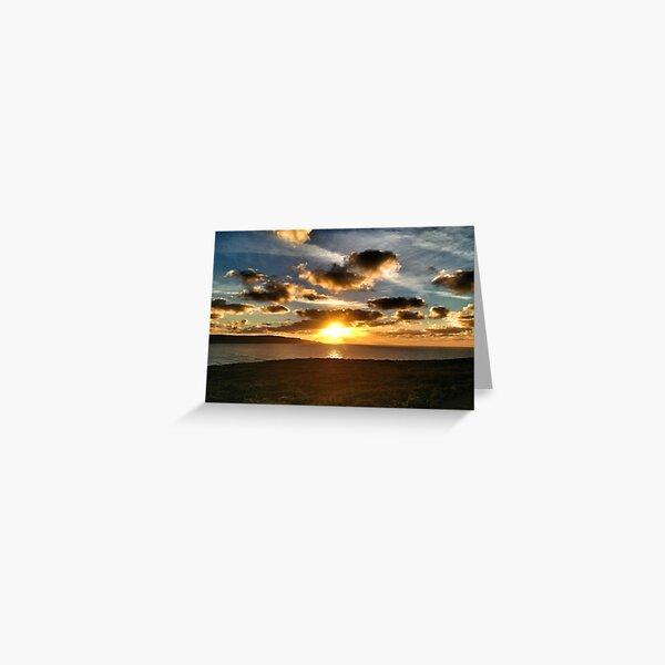 Amazing Cornish Sunset Greeting Card