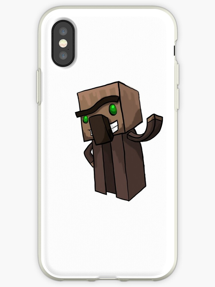 'Minecraft Villager' iPhone Case by DIMIART
