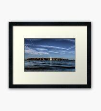 Sailing past Alderney Framed Print
