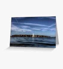 Sailing past Alderney Greeting Card