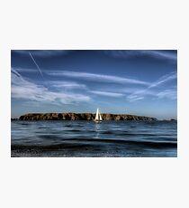 Sailing past Alderney Photographic Print