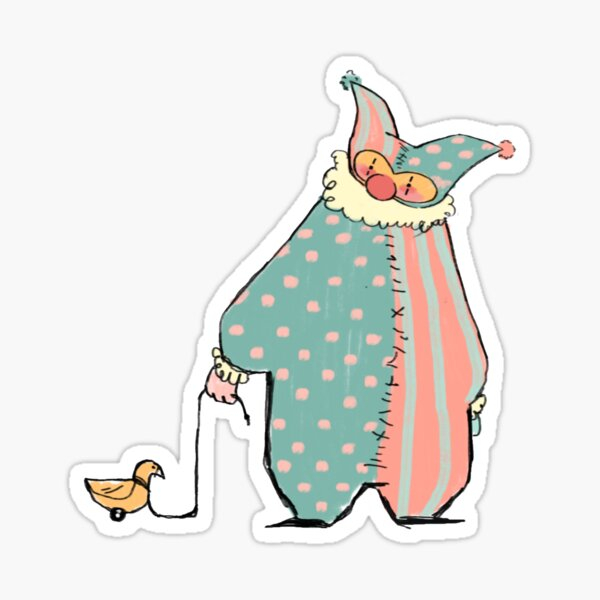 Stuart the Clown Sticker