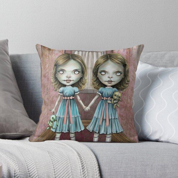 The Creepy Twins Throw Pillow