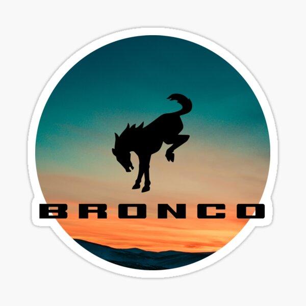 Ford Bronco logo Sunset  Sticker