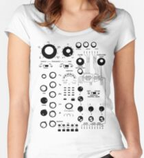ANALOGUE SYNTHESIZER #1 Women's Fitted Scoop T-Shirt
