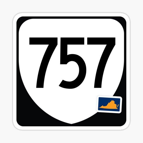 Virginia State Route 757 (Area Code 757) Sticker