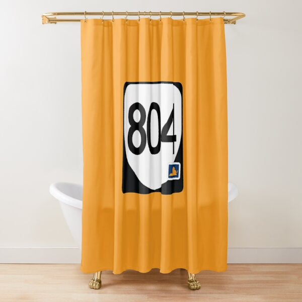 Virginia State Route 804 (Area Code 804) Shower Curtain