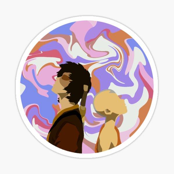 ¡cuando Aang y Zuko visitan a los Guerreros del Sol y aprenden la Danza del Dragón! Pegatina
