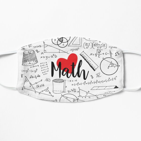 I love math Flat Mask