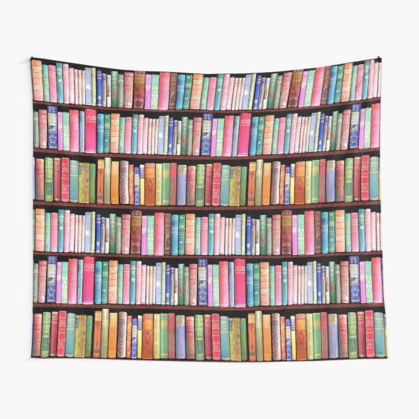Bookworm Antique books Tapestry