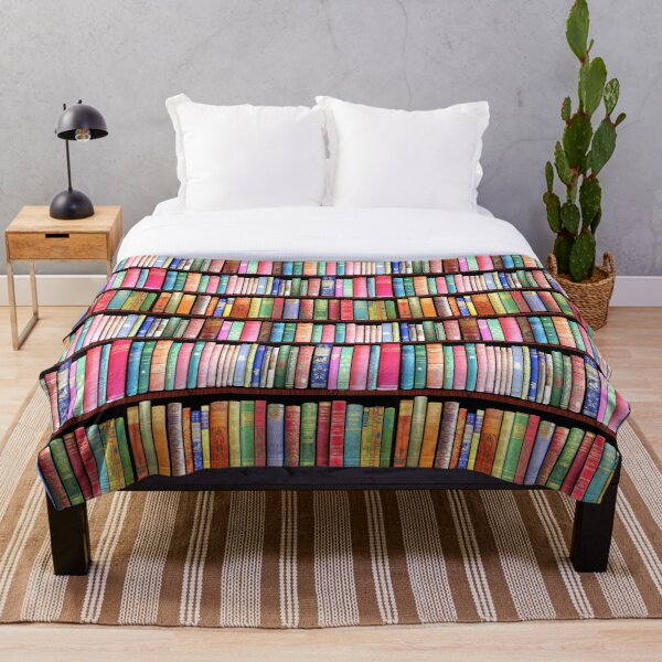 Bookworm Antique books Throw Blanket