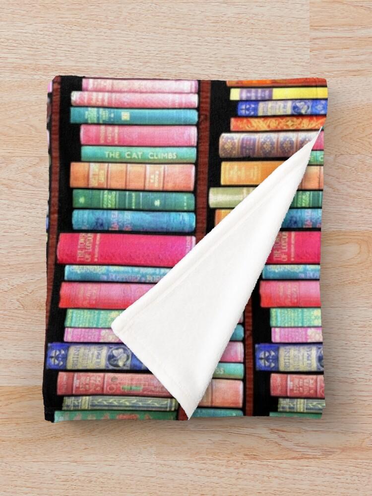 Alternate view of Bookworm Antique books Throw Blanket