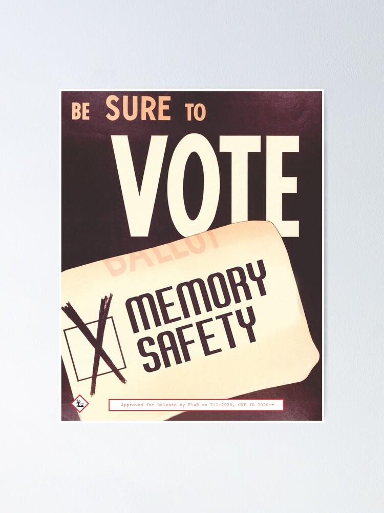 Alternate view of Be Sure To Vote Poster