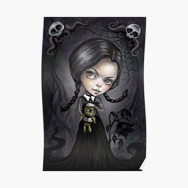 Gloomy Girl Wednesday Addams Poster