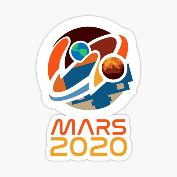 Mars 2020 Perseverance Rover Mission Patch Sticker