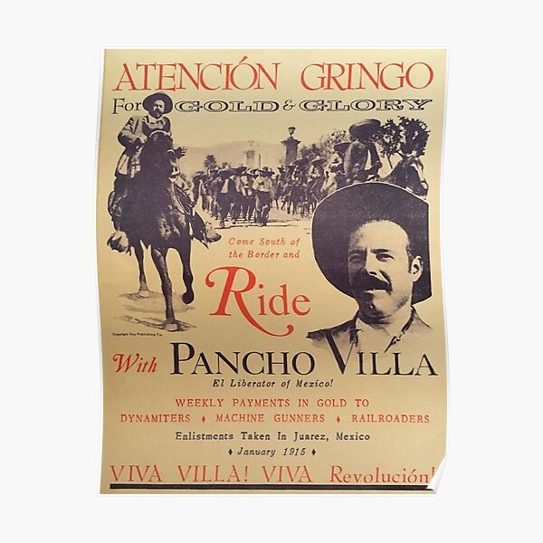 Ride with Pancho Villa (Old) Poster Poster