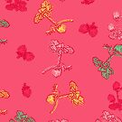 Pink Strawberry Pattern by rusanovska