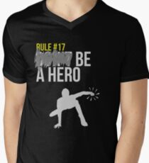 Zombie Survival Guide - Rule #17: Be A Hero Mens V-Neck T-Shirt