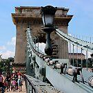 Budapest - Chain Bridge  by rsangsterkelly