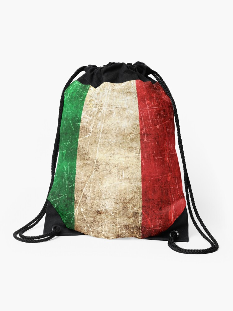 Drawstring Backpack Italian Flag Shoulder Bags