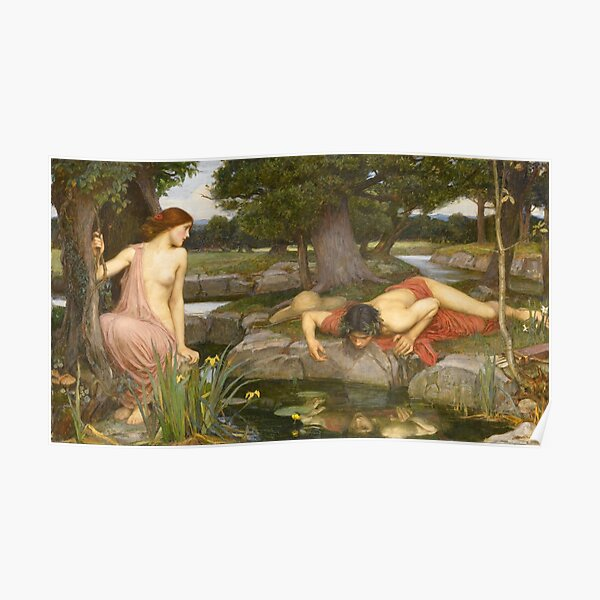 """Waterhouse's """"Echo and Narcissus"""" Poster"""
