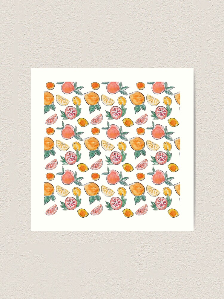 Alternate view of Citrus party in my garden_watercolour & ink  Art Print